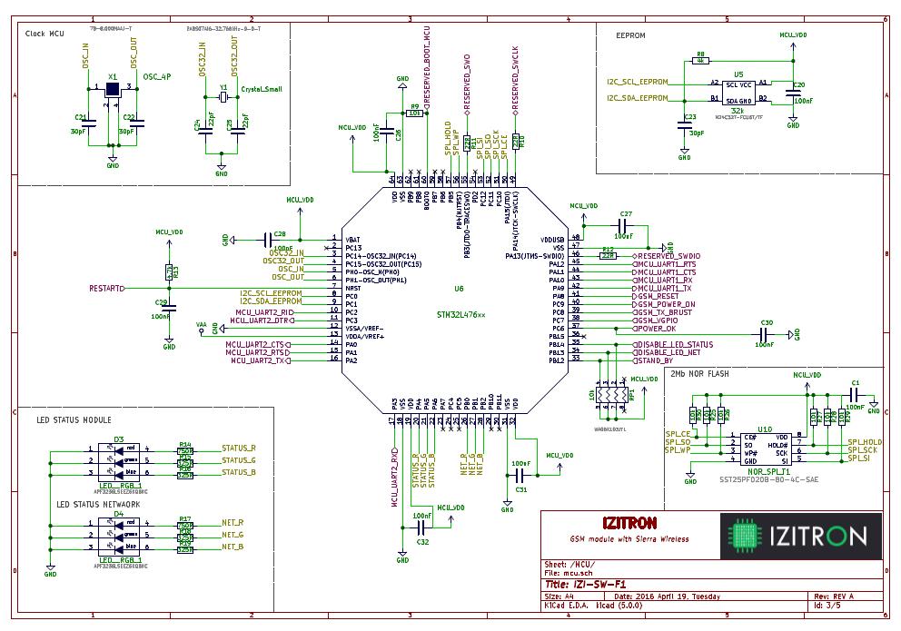 schema électronique d'un circuit imprimé